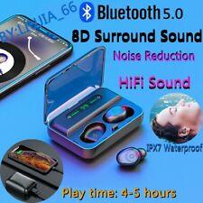 Wireless Bluetooth 5.0 Mini Invisible TWS Earphone In-ear 8D Stereo Headphones