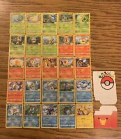 New Full Set 2021 McDonalds Pokemon 25th Anniversary Cards & Deck Case Non-holo