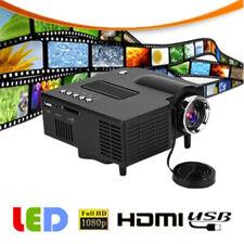 1080P Portable Mini LED Projector Home Theater Cinema Multimedia HDMI VGA AV USB