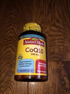 Nature Made CoQ10 200mg 140 Softgels Exp Date 02/2024+ Sealed Free S&H!