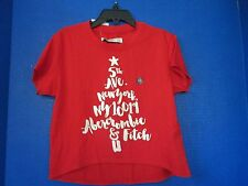 ABERCROMBIE~Red Short Sleeved 5th Ave New York SHIRT TOP~Girls 3/4~NEW
