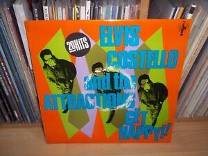 ELVIS COSTELLO Get Happy ! UK 1980 F-BEAT 1st Press LP with INNER & POSTER