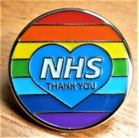 BRAND NEW NHS THANK YOU RAINBOW ENAMEL PIN BADGE PANDEMIC 2020