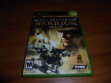 Full Spectrum Warrior (Microsoft Xbox, 2004) Used Complete Original