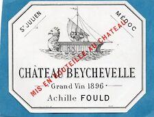 ST JULIEN 4E GCC VIEILLE ETIQUETTE CHATEAU BEYCHEVELLE 1908 RARE §21/05/18§