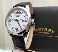 Mens Rotary watch Day & Date Blue Numerals Dolphin Standard RRP £230 (r99