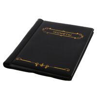 Album de pièces de 120 pokets 10 pages pour porte-jetons de pièces de
