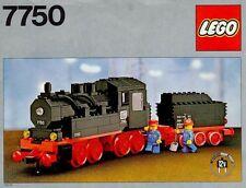 LEGO 7750 Steam Engine COMPL. 100% IST. PDF 1980 TRAIN TRENO 12V 12 V LOCO