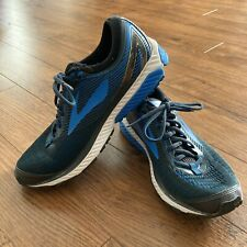 Brooks Mens Ghost 10 Black Blue Running Shoes Lace Up Sneakers Size 11 Athletic