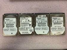 """Lot of 4, Toshiba 80GB, 400GB, 500GB, 640GB 2.5"""" Internal Hard Drives"""