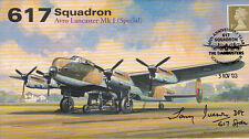 AV600 WWII 617 Squadron RAF Lancaster Tirpitz cover signed IVESON DFC