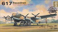 AV600 WWII 617 Squadron RAF Lancaster Tirpitz cover signed TONY IVESON DFC
