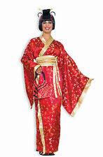 Womens Madame Butterfly Deluxe Geisha Costume Red Kimono Size Standard