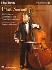 Franz Simandl 30 Etüden für Kontrabass Music Minus One Noten mit Download Code