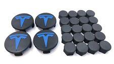 Tesla motor Model 3 Aero Wheel Center Cap Kit 3D Printed Recycled ABS BLUE