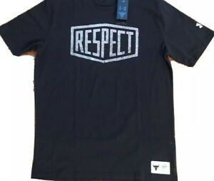 UNDER ARMOUR PROJECT ROCK GRAPHIC RESPECT SHORT SLEEVE SHIRT ROCK DWAYNE JOHNSON