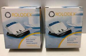 2 x Rolodex Petite Card File 67060 Includes A-Z 125 Cards BN