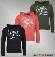Mens Jack And Jones Loopback Jersey Overhead Hoody Sizes from S to XXL