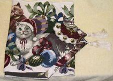 Vintage Christmas Cat Table Runner