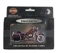 Vintage 1998 Harley-Davidson Collector Tin And Playing Cards New