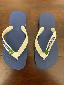 Havaianas Boys flip flops in White and Blue, Size  33/34