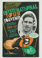 More details for new zealand & france rugby league tour of england 1951/52 - tour programme