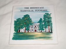 Collectible Square Souvenir Ceramic Wall Tile The Hermitage Nashville Tennessee
