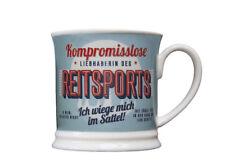 Reiter Becher LIEBHABERIN DES REITSPORT Retrobecher Kaffeebecher von GlasXpert