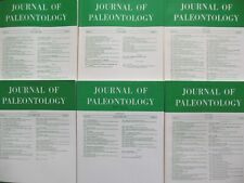 Journal Of Paleontology 1990 lot By the Paleontological Society