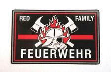 Aufkleber red family thin red line Größe ca. 8 x 5 cm, support Feuerwehr