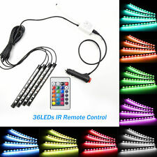 RGB LED Smart Strips Remote Control Car SUV Interior Light Mood Lights
