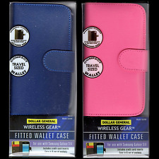 (2) Wallet Cases For The Samsung Galaxy S3/Slll, Magnetic Clasp, Textured Grip