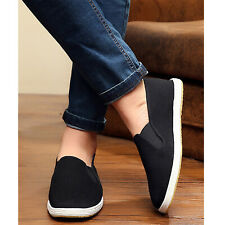 Adults Kung Fu Shoes Slippers Dancing Tai Chi Canvas Casual Shoes Rubber Black