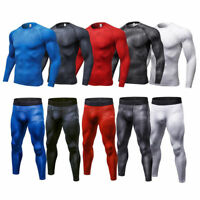 Men's Compression Tights Running Sport Gym Outfits Dri fit Athletic Base Layers