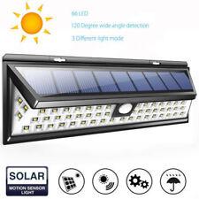 66 LED Solar PIR 3 Modos De Luz De Pared Lámpara de Seguridad Exterior De Jardín Sensor De Movimiento