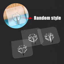 Removable Bathroom Kitchen Wall Strong Suction Cup Hook Hangers Vacuum Sucker x2