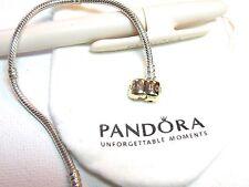 Genuine Pandora Bracelet 14kt Barrel clasp .925silver Bracelet 590702HG 8.3 NEW