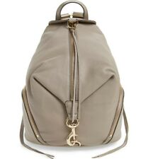 Rebecca Minkoff Julian Mini Convertible Leather Backpack Shoulder Bag Taupe