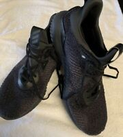 Adidas Mens Alpha3bounce Black Running Shoes Lace Up Low Top