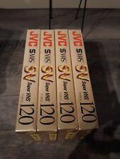 Menge 4 JVC S-VHS Master 6 Stunden VHS Kassetten st-120 SV-versiegelt