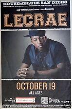 LECRAE 2014 SAN DIEGO CONCERT TOUR POSTER - Christian Hip Hop Music, 116 Clique