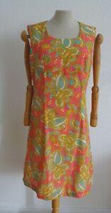True Vintage Kleid 42 psychedelic Hippie Boho Flowerpower Midcentury 50er 60er