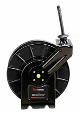 "ReelWorks Steel Retractable Air Compressor Hose Reel 3/8"" x 50' Hybrid Polyme..."