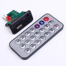 12V Mini MP3 Decoder Board Support U-Disk/TF Card w/Remote Control 44x23mm