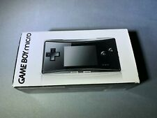Nintendo Game Boy Game Boy Micro Consola Negro Nuevo Abierta Caja