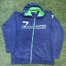 64598f215 CHAPS SPORT Polo Ralph Lauren Zip-Up Hoodie Jumper Sweater BLUE Size L LARGE
