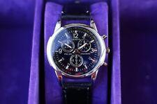 Men's Geneva PRC 200 Chronograph Style Wrist Watch & Black Strap Quartz