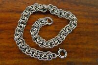 Vintage sterling silver 1950's 1960's DOUBLE LINK CHARM bracelet FOR CHARMS
