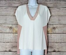 Zara WB Collection Womens Small S Blush Pink and Cream NWT Short Sleeved hi low