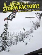 LIB TECH snowboard 2014 BLAIR HABENICHT 2 sided promotional poster ~NEW~MINT~!!